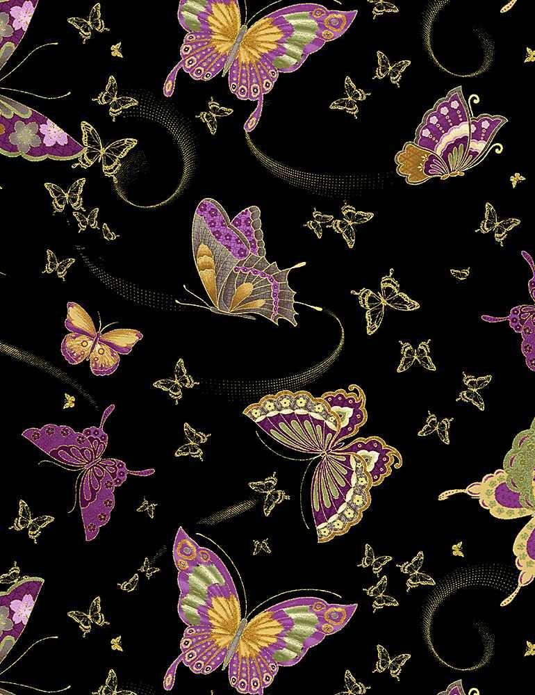 Amethyst Butterflies- CM8815 Black