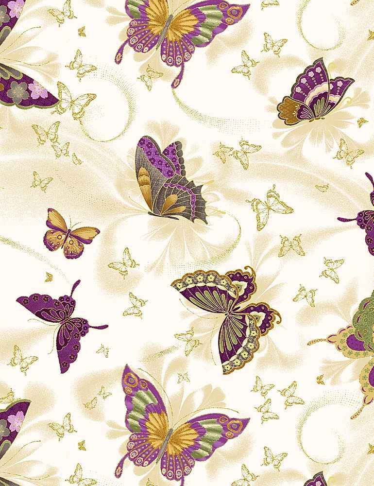 Amethyst Butterflies- CM8815 Cream