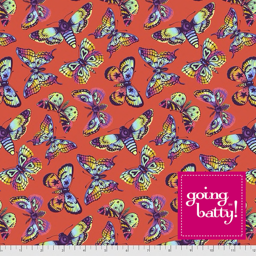 PRE-ORDER Tula Pink Daydreamer Butterfly Kisses- PWTP172.PAPAYA