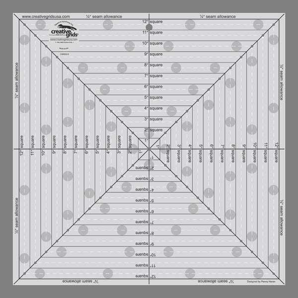 Creative Grids Ruler 12.5 Inch - Square It Up
