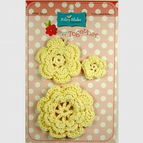 Crocheted Flowers-Cream