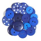 Assorted Buttons - Blue Jean