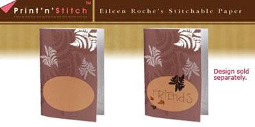 Brown Ferns Print N Stitch Notecards