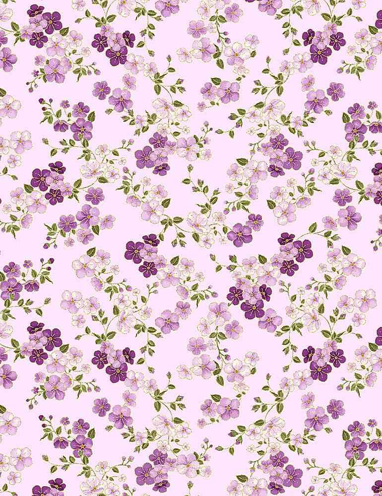 Delicate Japanese Cherry Blossoms- CM8813 Lilac