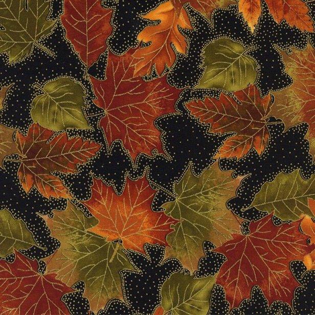 Harvest-Autumn Leaves CM1187-Black