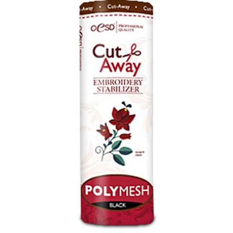 PolyMesh Cut-Away Black 10 Inches by 10 Yards