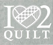 Decals-I Heart 2 Quilt