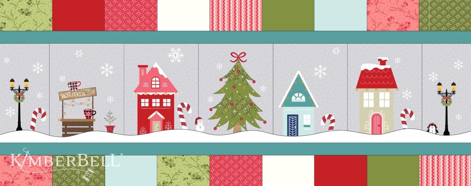Candy Cane Lane Bench Pillow Kit includes fabrics for the top, backing & embellishments