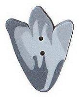Button - Large Blue Tulip