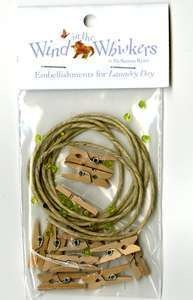 Embellishment Kit Wind In The Whiskers- Laundry Day