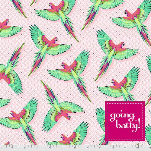 PRE-ORDER Tula Pink Daydreamer Macaw Ya Later- PWTP170.DRAGONFRUIT