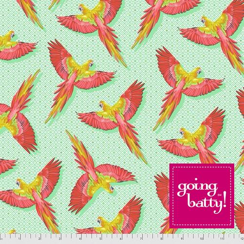 PRE-ORDER Tula Pink Daydreamer Macaw Ya Later- PWTP170.MANGO