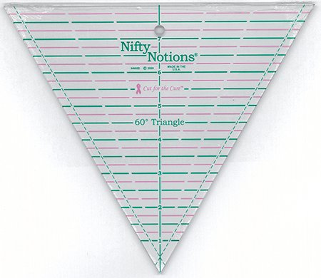 Nifty Notions 60 Degree Triangle Ruler