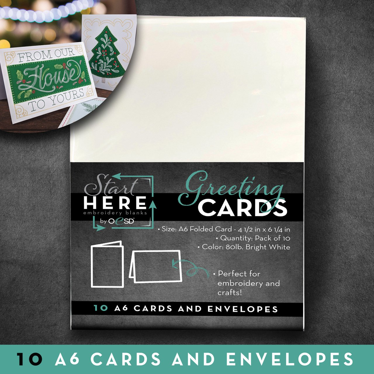 4.50 x 6.25 Blank Greeting Cards & Env Size A6 10pk