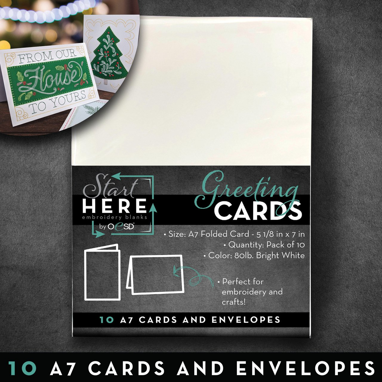 5 x 7 Blank Greeting Cards & Env Size A7 10pk