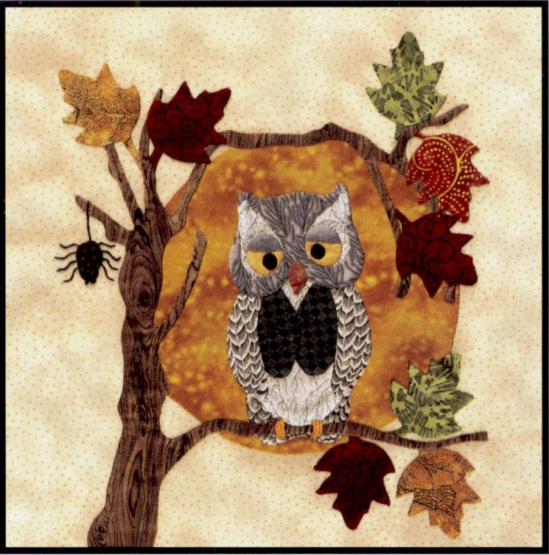 Baltimore Halloween-Pattern-Tree Owl