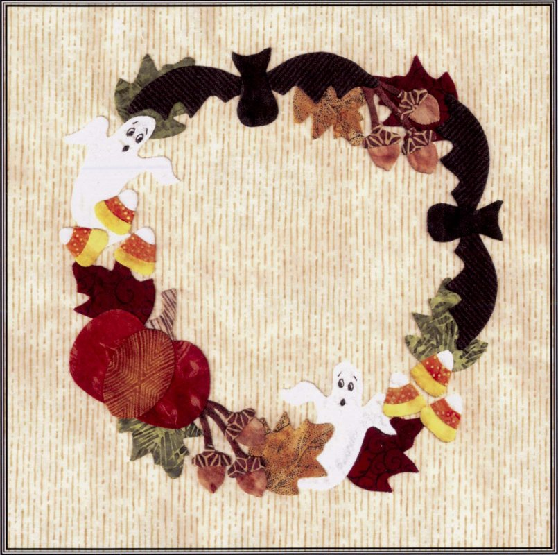 Baltimore Halloween-Pattern-Ghost and Bat Wreath