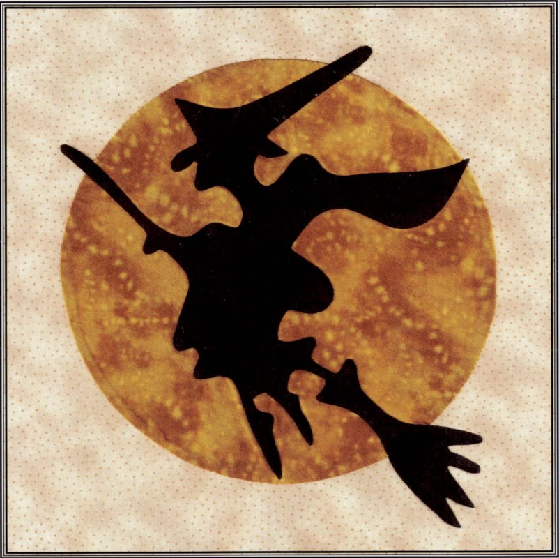 Baltimore Halloween-Pattern-Witch and Moon