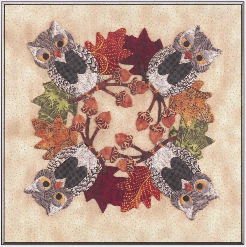 Baltimore Halloween-Pattern-Owl Wreath