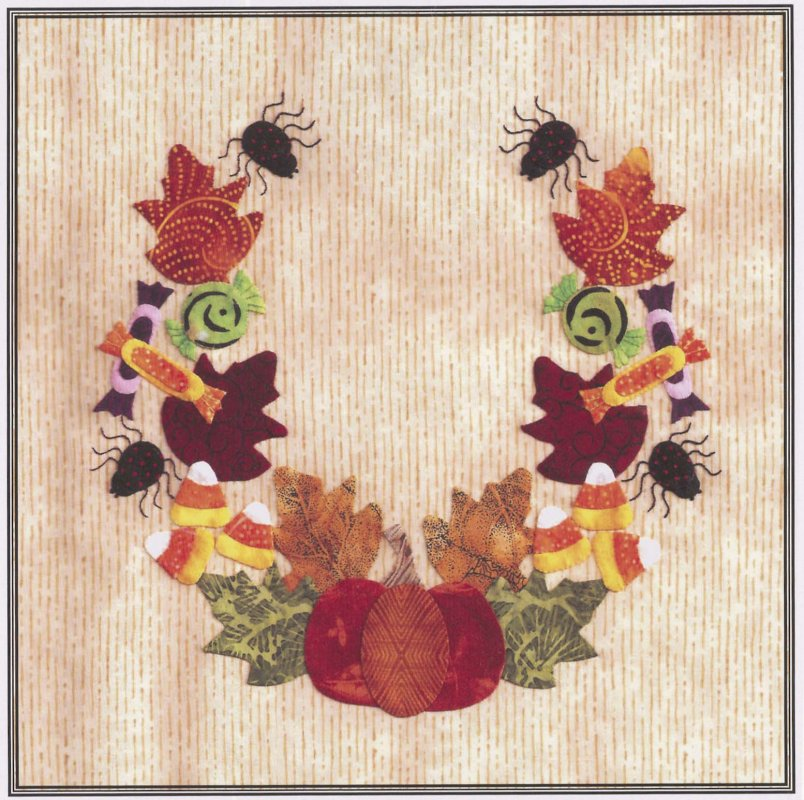 Baltimore Halloween-Pattern-Candy Wreath