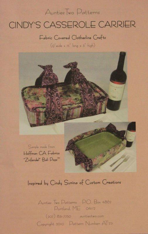 Cindy's Casserole Carrier Pattern