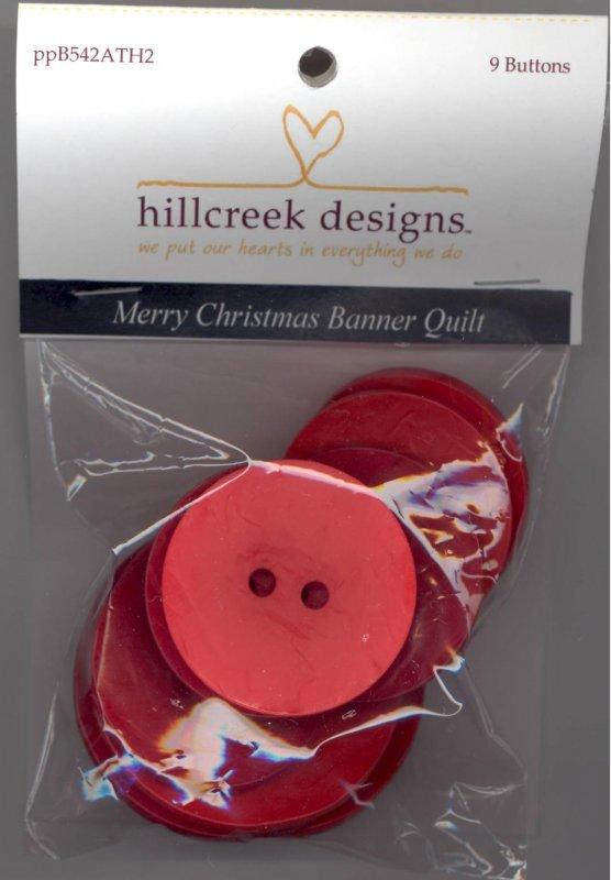 Merry Christmas Banner Quilt Buttons