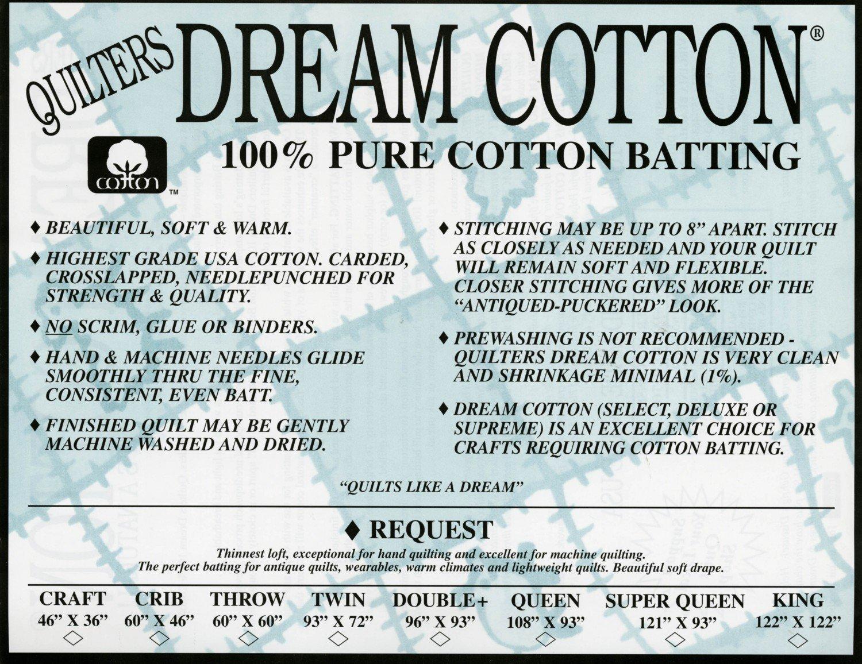 Dream Cotton Batting White Request-Throw