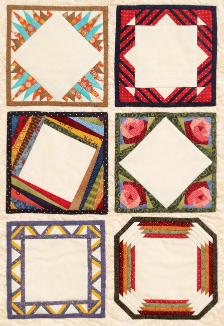 Paper Pieced Quilt Labels #8 Pattern