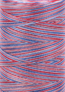 Aurifil 28 wt. Quilting Thread-Patriotic Varigated-3852