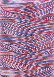 Aurifil 28 wt. Quilting Thread-Patriotic Varigated-3852