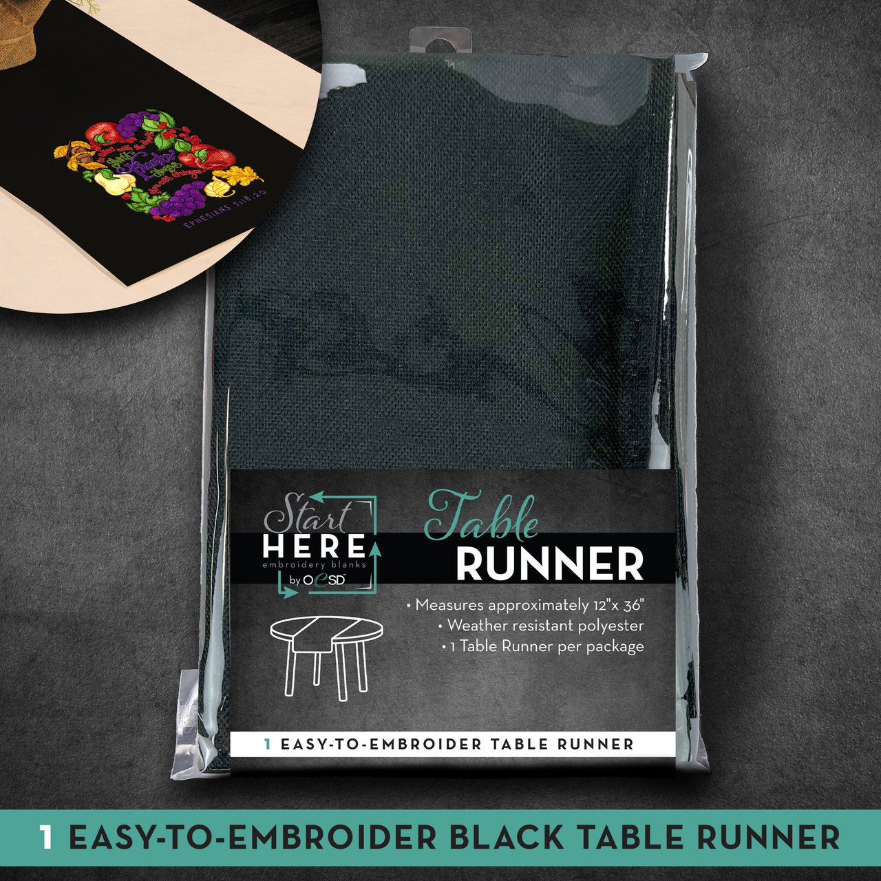 OESD Table Runner Black