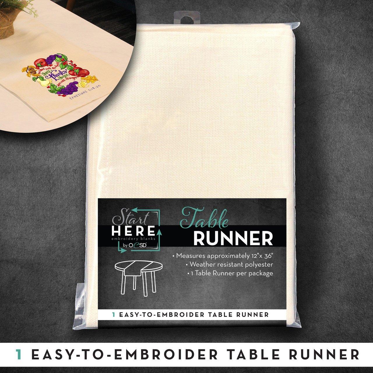 OESD Table Runner White