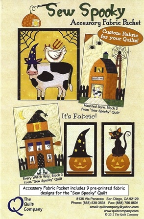 Sew Spooky Accessory Fabric Packet