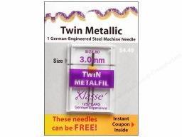 Klasse Needles- Twin Metallic 3.0mm/80