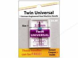 Klasse Needle- Twin Universal 3.0mm/80
