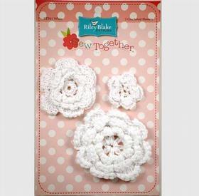 Crocheted Flowers-White