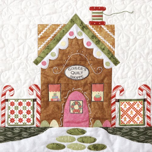 Gingerbread Village-Pattern  #3 Ginger's Quilt Shop