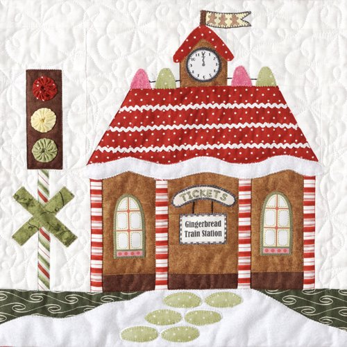 Gingerbread Village-Pattern  #5 Gingerbread Train Station