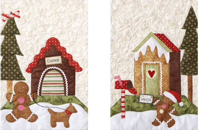 Gingerbread Village-Pattern  #6 Cookie Dog House & Letter To Santa
