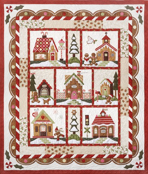 Gingerbread Village-Pattern  #7 Assembling The Quilt