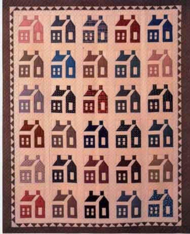 Schoolhouse Quilt Pattern 81 X 96