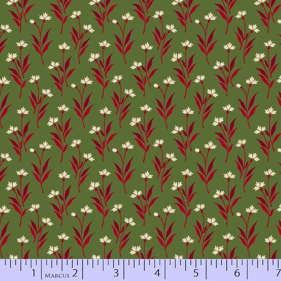 Heritage Red And Green 8471-0514 (1 yard left)