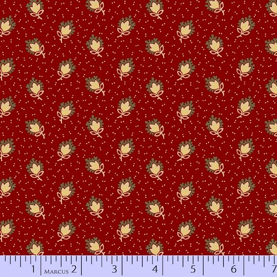Heritage Red And Green 8472-0511 (1 yard left)