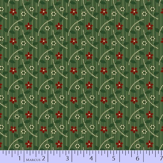 Heritage Red And Green 8473-0514 (1 yard left)