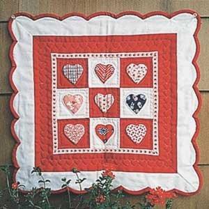 Aunt Grace Valentines 17 X 17