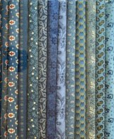 Fabric Sticks 9 X 22  Blue