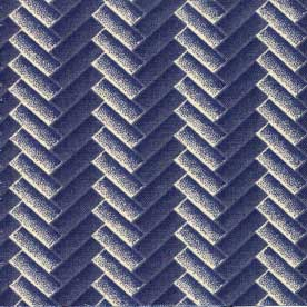 Bits of Blue and Grey-Chevron blue (3 yards left)