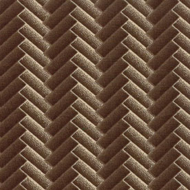 Bits of Blue and Grey-Chevron brown (4 yards left)