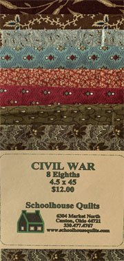 Fabric Strips 4 1/2 X 45 Civil War Tribute