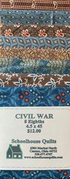 Fabric Strips 4 1/2 X 45 Civil War Tribute